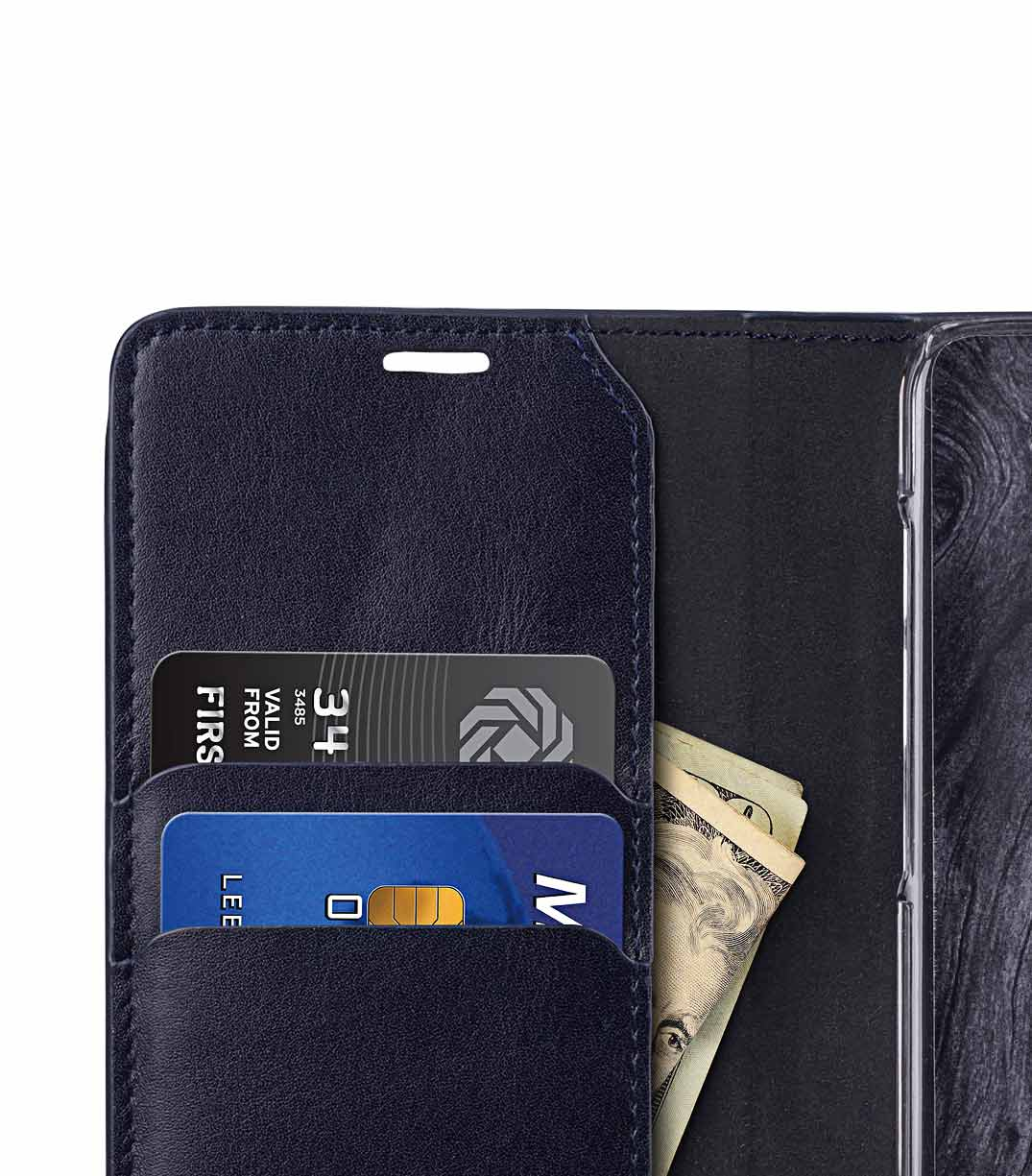 Melkco Fashion Cocktail Series Premium Leather Slim Flip Type Case for Samsung Galaxy S9 Plus - (Navy)