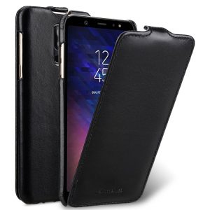 Melkco Premium Leather Case for Samsung Galaxy A6 Plus (2018) - Jacka Type (Black)