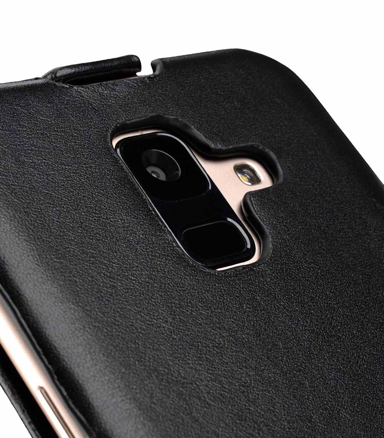 Melkco Premium Leather Case for Samsung Galaxy A6 (2018) - Jacka Type (Black)