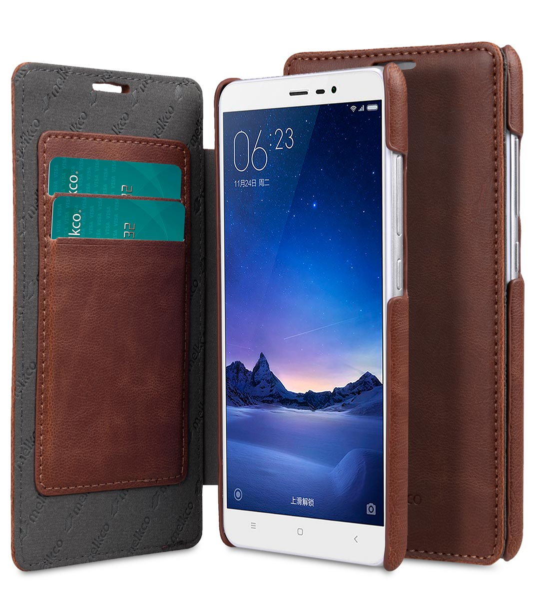 pretty nice 4c8ba 06302 PU Leather Case For Xiaomi Redmi Note 3 - Face Cover Book Type (Ver.3)