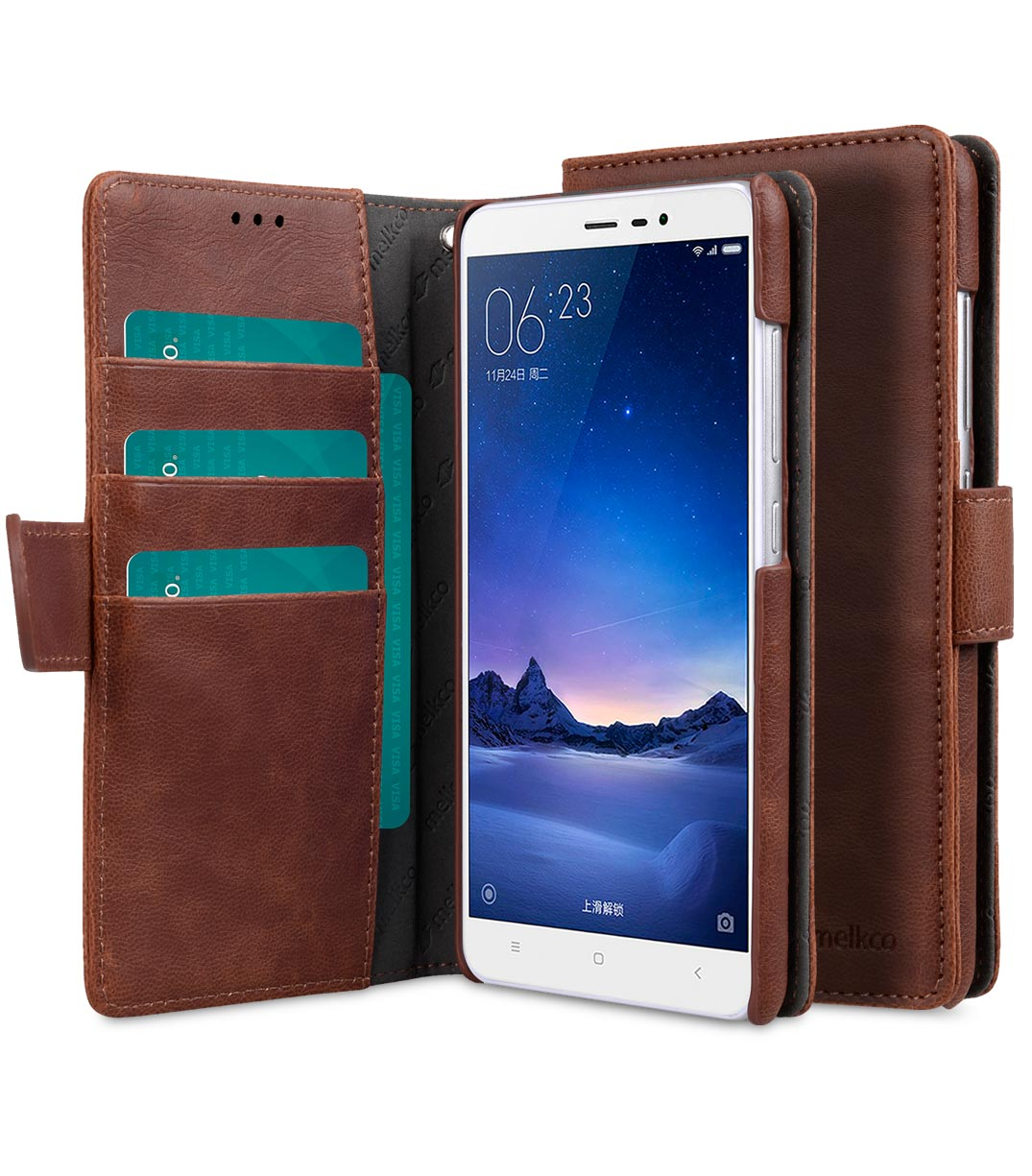 best sneakers a9a87 9bc70 PU Leather Case For Xiaomi Redmi Note 3 - Wallet Book Type