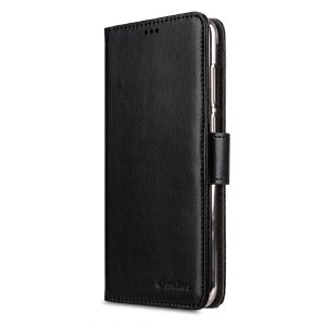 Melkco Mini PU leather case Wallet Book Clear Type for Huawei Y6 - (Black PU)