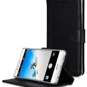 Melkco Premium Genuine Leather Case for Huawei P9 Plus - Wallet Book Type With Stand Function (Vintage Black)
