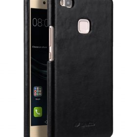 outlet store fdb2f 7e5f9 Premium Genuine Leather Snap Back Cover for Huawei P9 Lite