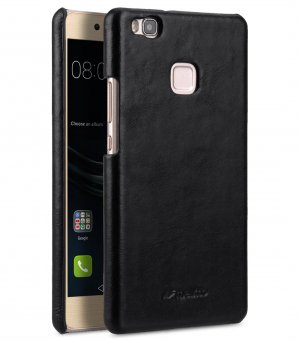 Premium Genuine Leather Snap Back Cover for Huawei P9 Lite