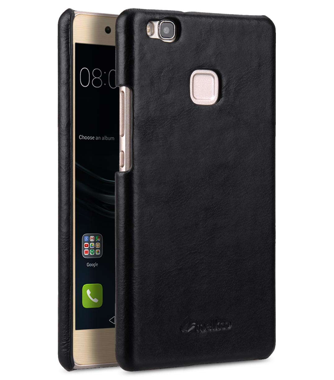 outlet 93c2b c7746 Premium Genuine Leather Snap Back Cover for Huawei P9 Lite