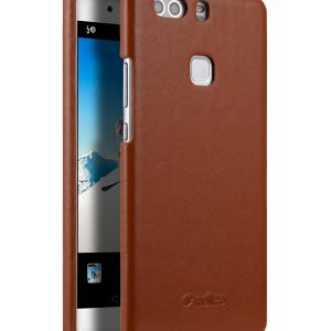 Premium Genuine Leather Snap Back Cover for Huawei P9 Plus