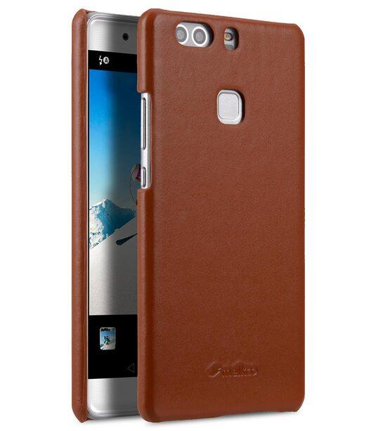 rivenditore online e1ecd 80c78 Premium Genuine Leather Snap Back Cover for Huawei P9 Plus