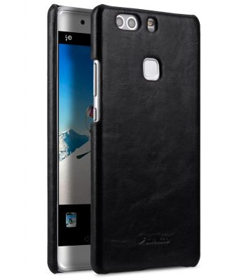 Melkco Premium Genuine Leather Snap Back Cover for Huawei P9 Plus (Vintage Black)