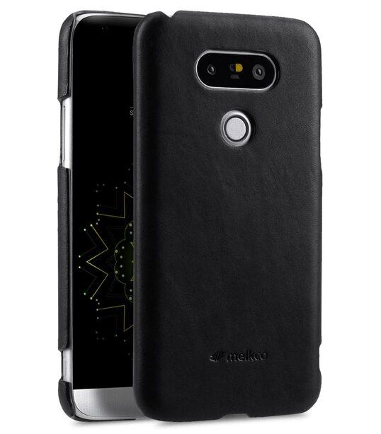 Melkco Premium Genuine Leather Snap Cover For LG G5 (Traditional Vintage Black)
