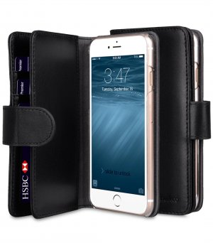 "Premium Leather Case for Apple iPhone 7 / 8 (4.7"") - Wallet Plus Book Type"