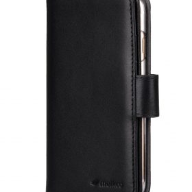 "Melkco Premium Leather Case for Apple iPhone 7 / 8 (4.7"") – Wallet Plus Book Type (Black)"