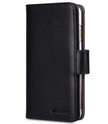 "Melkco Premium Leather Case for Apple iPhone 7 / 8 (4.7"") - Wallet Plus Book Type (Black)"