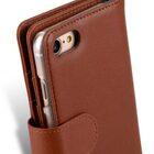 "Melkco Premium Leather Case for Apple iPhone 7 / 8 (4.7"") – Wallet Plus Book Type (Orange Brown)"