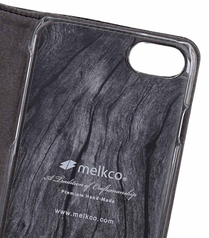 "Melkco Premium Leather Case for Apple iPhone 7 /8(4.7"") - Wallet Plus Book Type (Black LC)"