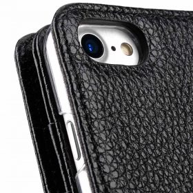 "Melkco Premium Leather Case for Apple iPhone 7 /8(4.7"") – Wallet Plus Book Type (Black LC)"