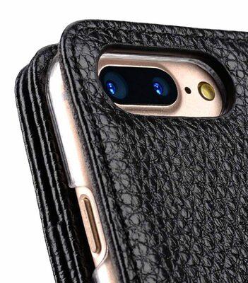 "Melkco Premium Leather Case for Apple iPhone 7 Plus (5.5"") - Wallet Plus Book Type (Black LC)"
