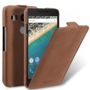 Melkco Premium Leather Case for LG Nexus 5X - Jacka Type (Classic Vintage Brown)