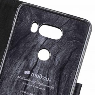 Melkco Premium Leather Case for LG V30 – Wallet Book Clear Type Stand (Vintage Black)
