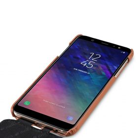 Melkco Premium Leather Case for Samsung Galaxy A6 (2018) – Jacka Type (Brown CH)