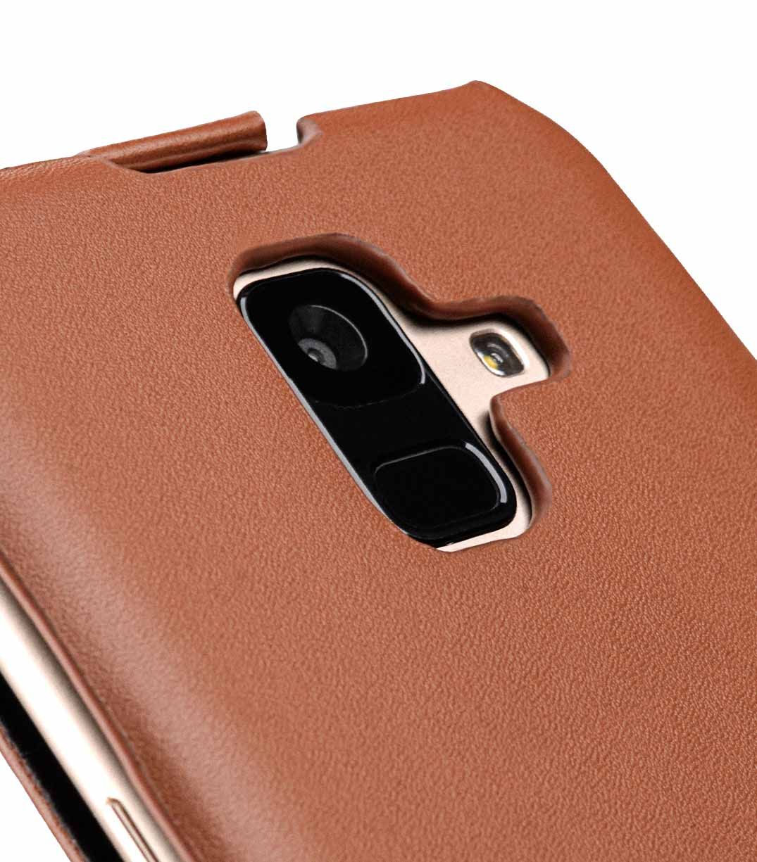 Melkco Premium Leather Case for Samsung Galaxy A6 (2018) - Jacka Type (Brown CH)