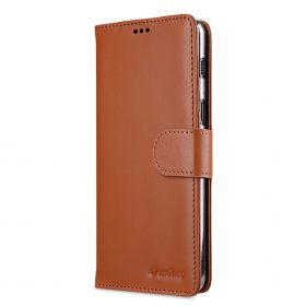 Melkco Premium Leather Case for Samsung Galaxy A8 (2018) – Wallet Book Clear Type Stand (Brown CH)