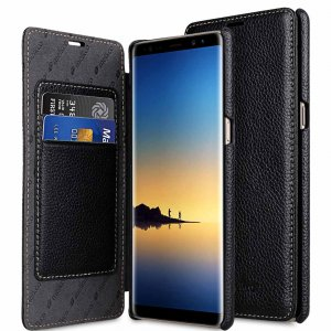 Melkco Premium Leather Case for Samsung Galaxy Note 8 - Face Cover Book Type (Black LC)Ver.3