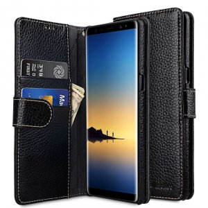 Melkco Premium Leather Case for Samsung Galaxy Note 8 - Wallet Book Type (Black LC)