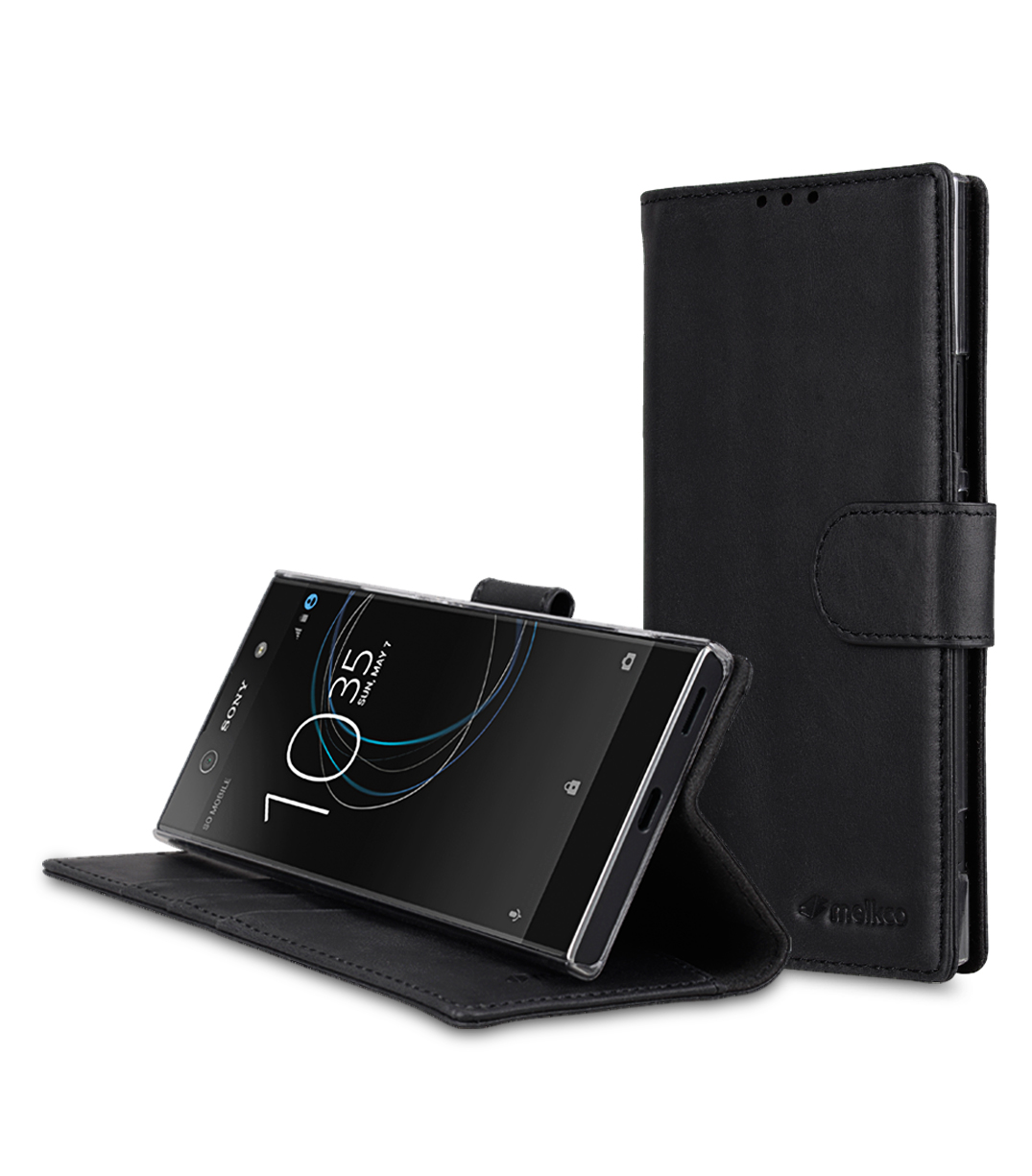 the best attitude 1cd6e 2dc18 Premium Leather Case for Sony Xperia XA1 Ultra - Wallet Book Clear Type  Stand