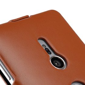 Melkco Premium Leather  Case for Sony Xperia XZ2 – Jacka Type (Brown CH)