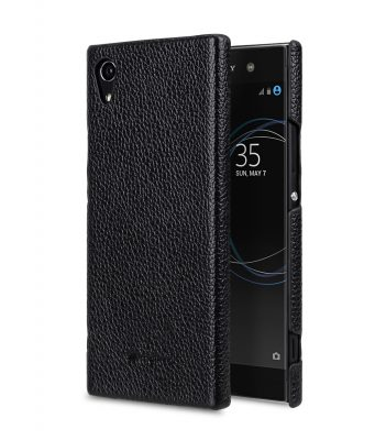 Melkco Premium Leather Snap Cover for Sony Xperia XA1 Ultra - ( Black LC )
