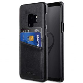 PU Leather Dual Card Slots Back Cover Case for Samsung Galaxy S9