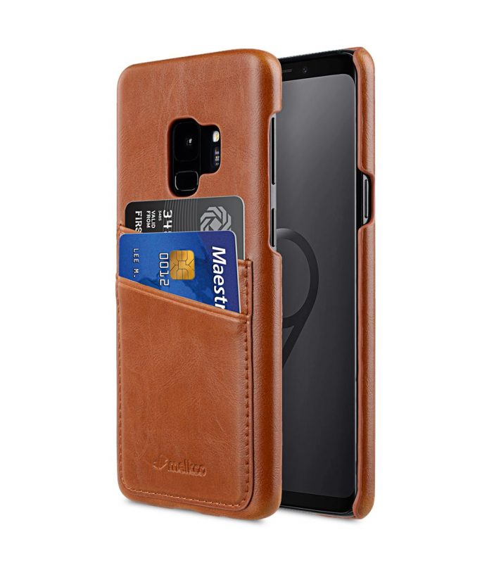 Melkco PU Leather Dual Card Slots Back Cover Case for Samsung Galaxy S9 - (Brown)