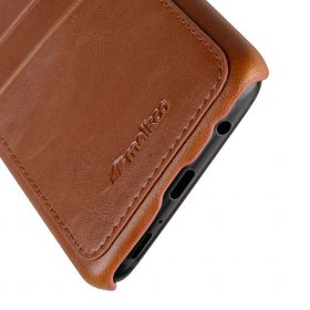 Melkco PU Leather Dual Card Slots Back Cover Case for Samsung Galaxy S9 – (Brown)