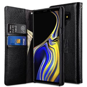 Melkco Premium Leather Case for Samsung Galaxy Note 9 - Wallet Book Type (Black LC)