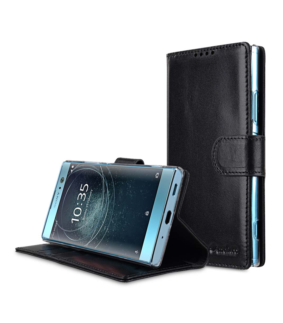 differently 25493 7c22a Premium Leather Case for Sony Xperia XA2 - Wallet Book Clear Type Stand
