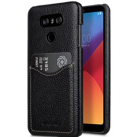 Melkco Premium Leather Card Slot Back Cover V2 for LG G6 –  ( Black LC )