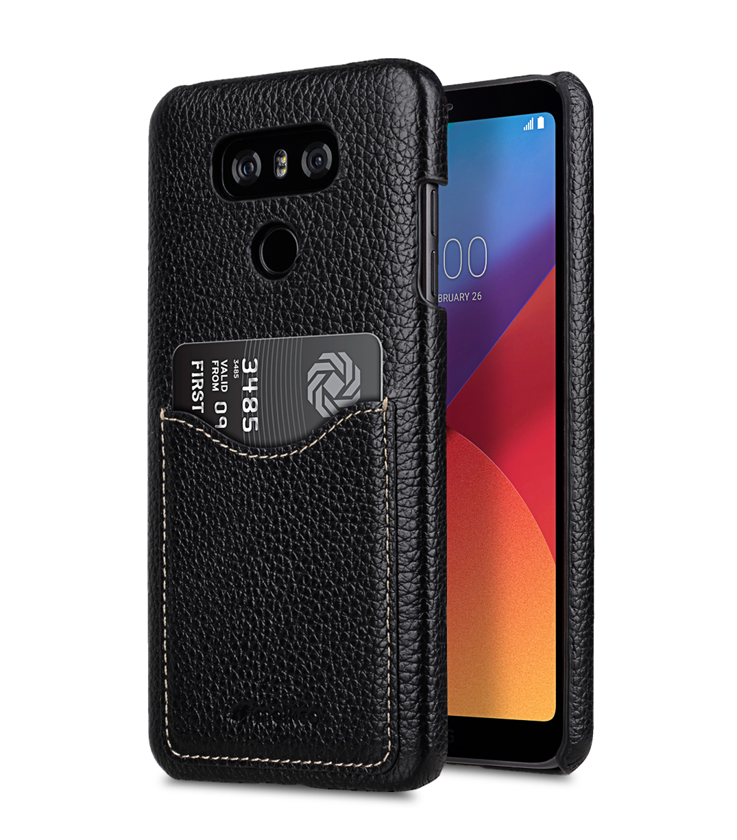 best loved e67ee 4887c Premium Leather Card Slot Back Cover V2 for LG G6