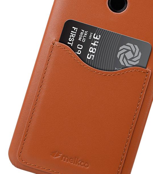 Melkco Premium Leather Card Slot Back Cover V2 for LG G6 - ( Brown )