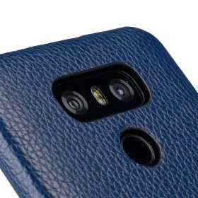 Melkco Premium Leather Card Slot Back Cover V2 for LG G6 – ( Dark Blue LC )