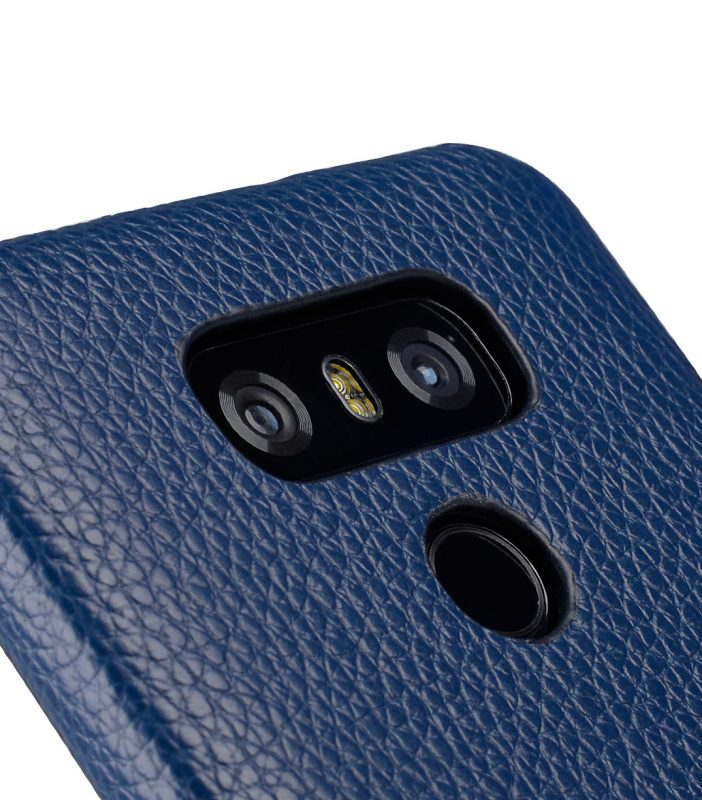 Melkco Premium Leather Card Slot Back Cover V2 for LG G6 - ( Dark Blue LC )