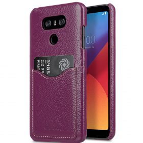 Melkco Premium Leather Card Slot Back Cover V2 for LG G6 – ( Purple LC )