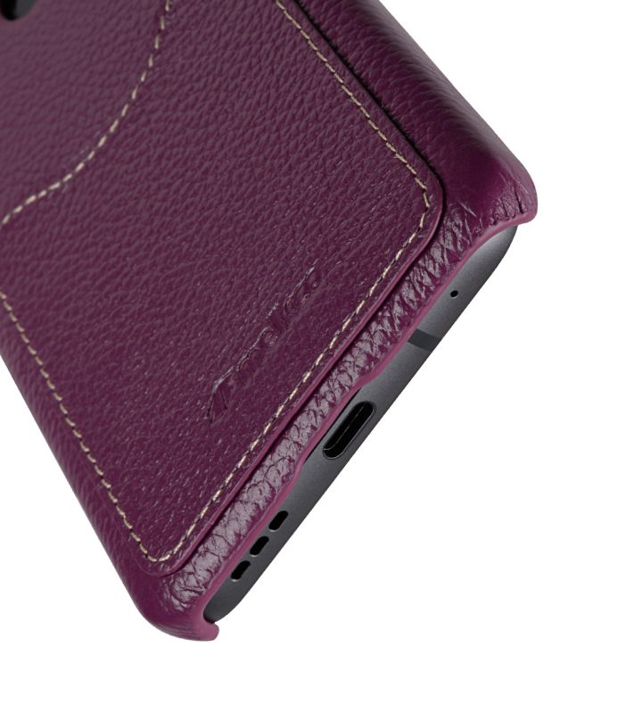 Melkco Premium Leather Card Slot Back Cover V2 for LG G6 - ( Purple LC )