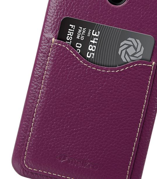 Melkco Premium Leather Card Slot Back Cover V2 for LG G6 - ( Purple LC )