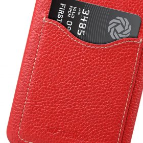Melkco Premium Leather Card Slot Back Cover V2 for LG G6 – ( Red LC )