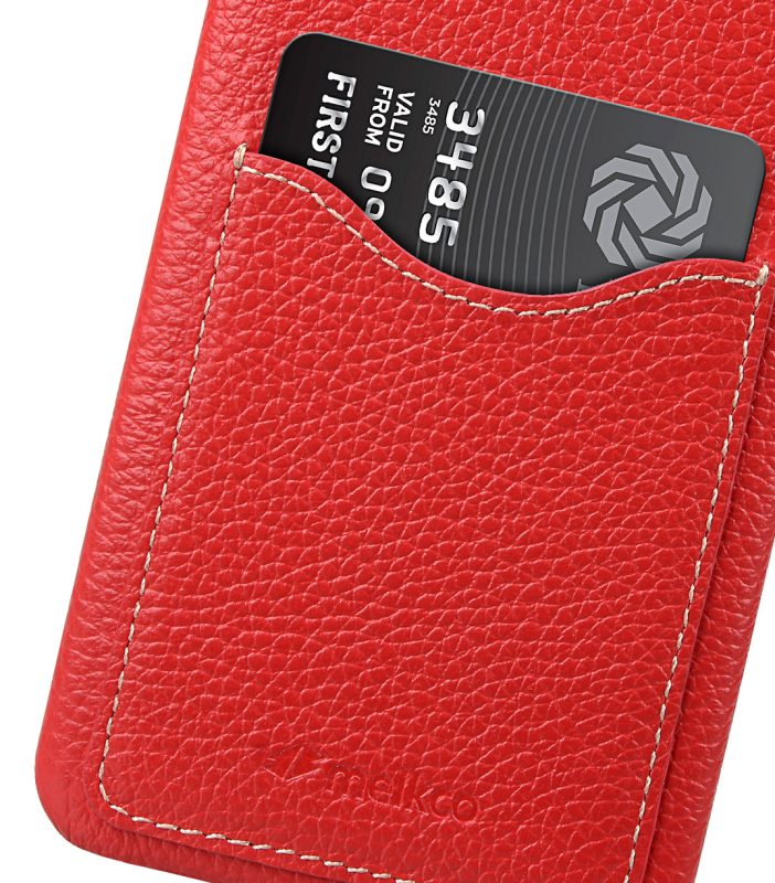 Melkco Premium Leather Card Slot Back Cover V2 for LG G6 - ( Red LC )