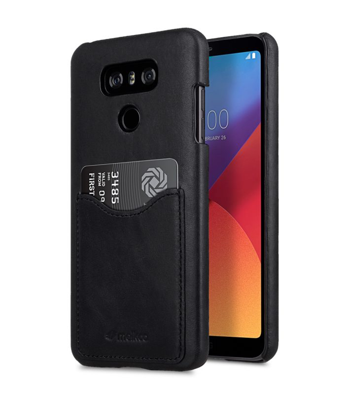 Melkco Premium Leather Card Slot Back Cover V2 for LG G6 - ( Vintage Black )