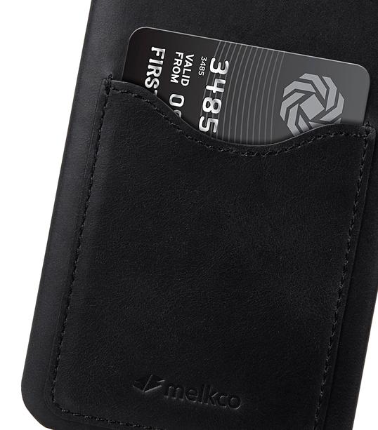 Melkco Premium Leather Card Slot Back Cover V2 for LG G6 - ( Vintage Black )
