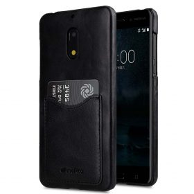 best service 52272 bb167 Premium Leather Card Slot Snap Cover for Nokia 6