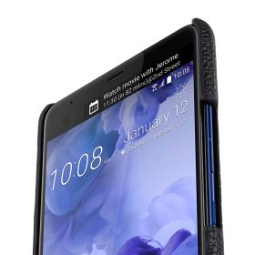 Premium Leather Card Slot Snap Cover for HTC U Ultra – (Black LC)Ver.2